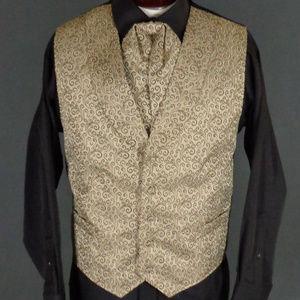 *Sold* Scully Brown Steampunk Vest & Puff Tie  2X